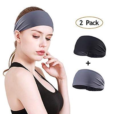 MOSTEP Headbands for Women, Non-Slip Silicone Grippy Sweatband& Moisture Wicking Sport Headband| Stretchy Fashion Athletic Headband for Yoga, Bike Helmet Friendly, Running, Workout