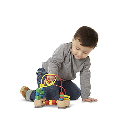 Melissa & Doug First Bead Maze (Developmental Toys, Wooden Educational Toy, Quality Craftsmanship & Sturdy Construction)