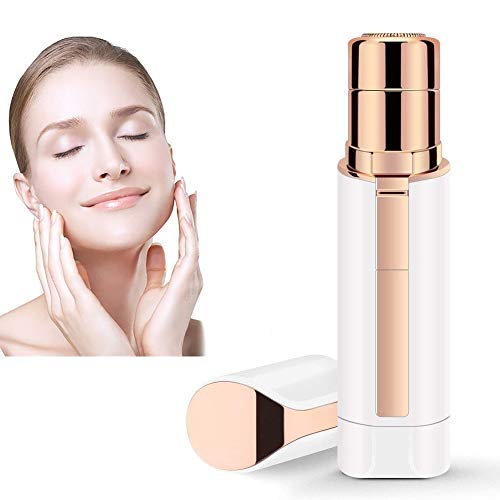 Facial Hair Removal for Women,Portable Waterproof Electric Facial Hair Remover Epilator for Face Lip Body Chin and Cheek Hair,Mini Travel Size (white)