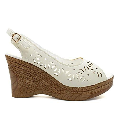 London Footwear - Zapatos con tacón mujer blanco