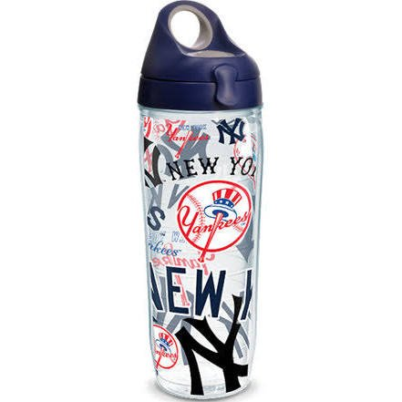 Tervis 888633608929 MLB New York Yankees All Over 24 oz Water Bottle with Lid ()