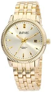 August Steiner Men's ASA824YG Diamond Automatic Bracelet Dress Watch