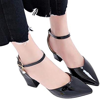 004c5ebc672ef Sandalias mujer ❤ Sonnena Sandalias de verano Mujer Zapatos de tacón grueso  Zapatos de tacón alto Zapatos de playa Calzado zapatillas