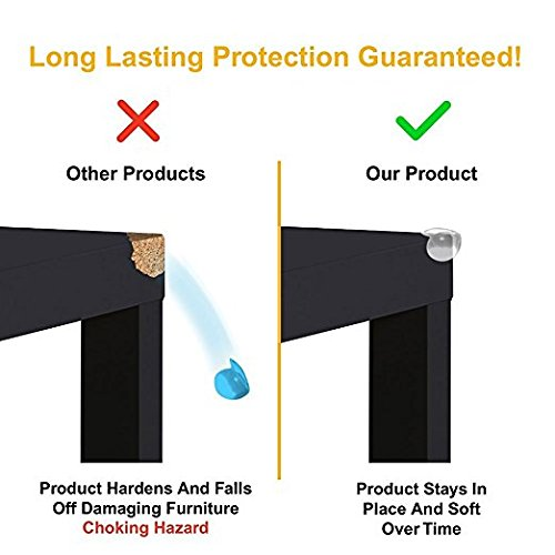 20 Pack Clear Corner Protectors - 3 Times More Holding Power - Baby Proof Furniture, Table Guards - Baby Safety