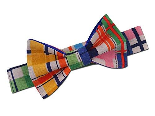 Juxby Boy's Fresh Madras Print Bow Tie