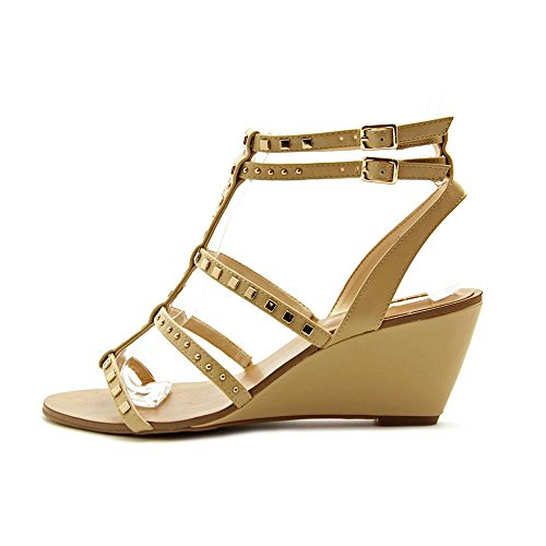 INC International Concepts Frauen WINDYE Offener Zeh Anlass Sandalen mit Keilabsatz Light Honey
