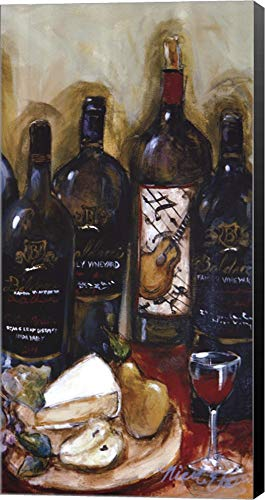 Wine Tasting Panel III by Nicole Etienne Canvas Art Wall Picture, Museum Wrapped with Black Sides, 12 x 25 inches