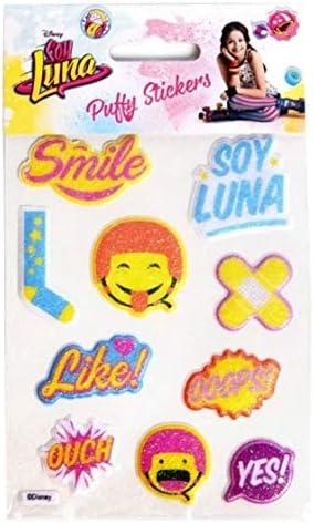 Disney SL16278 Soy Luna - Adhesivos decorativos 3D S, multicolor: Amazon.es: Juguetes y juegos