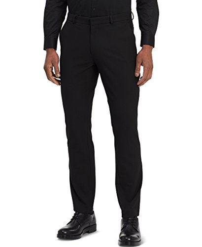 Calvin Klein Men's Infinite End Bi-Stretch Pants, Black, 34W x 32L -