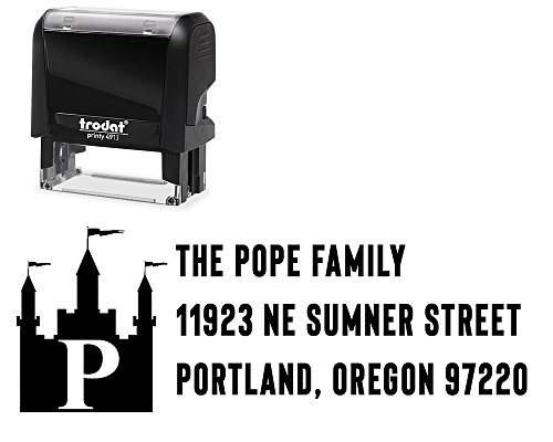Self-Inking Return Address Stamp, Choose from 5 Ink Colors.