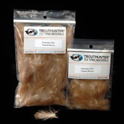 Trouthunter Natural CDC Feathers 3.5 grams, Natural Brown