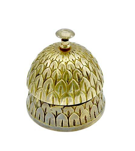 Brass Nautical - Beautiful Desk Bells Pine Apple Service Unique Table Bells Home Decor Gift Call Bell Reception Bell (Pineapple, Brass Antique)