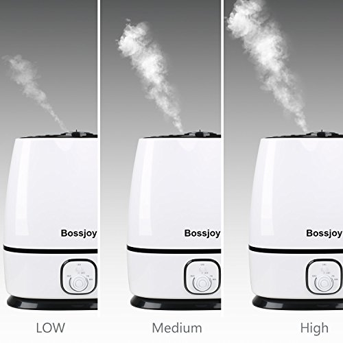 BOSSJOY Ultrasonic Cool Mist Humidifier for Baby, 6L Premium Air Humidifier, Whisper-Quiet Operation, Waterless Auto Shut-Off, Adjustable Mist Mode for Home Bedroom Babyroom Office by BOSSJOY (Image #2)