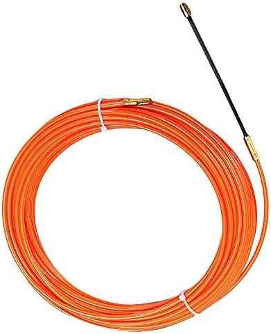 Growment 4Mm 40 M/èTres De Dispositif De Guidage Orange En Nylon De Cable /éLectrique Push Pullers Duct Snake Rodder Fish Tape Wire