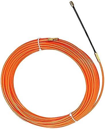 Tiamu 4Mm 20 Metros Dispositivo de Guía Naranja Cable Eléctrico de Nylon Extractores de Empuje Conducto de Serpiente Alambre de la Cinta de Los Pescados de Rodder