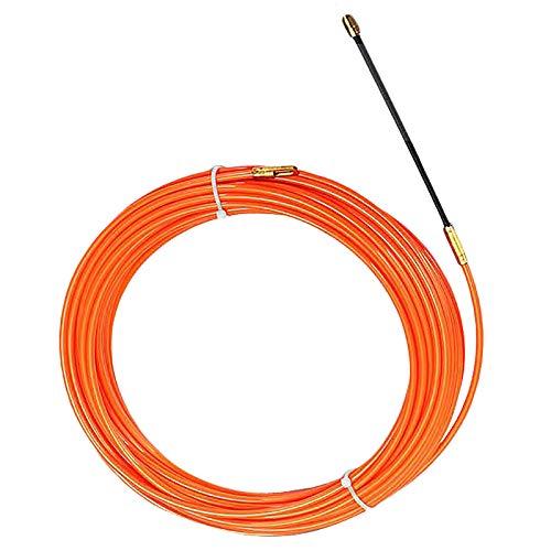 Cikuso 4Mm 10 M/èTres De Dispositif De Guidage Orange Nylon Cable /éLectrique Push Pullers Duct Snake Rodder Fish Tape Wire