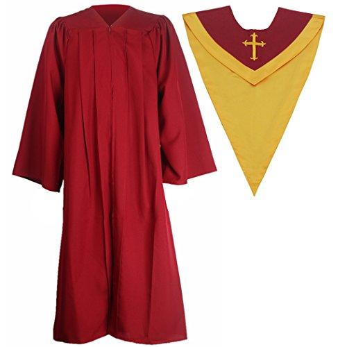Ivyrobes Unisex Classic Matte Choir Robe&Stoles Package M...