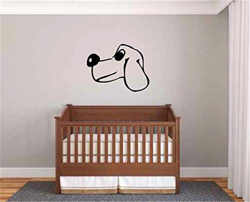 Family-decal Lettering Words Wall Mural DIY Removable Sticker Decoration pet Dog Wall Sticker Puppy Dog Head for Nursery Kids Room Living Room Bedroom