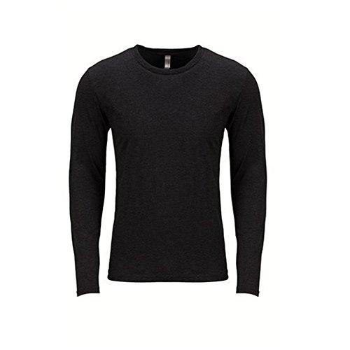 Next Level Men's Performance Blended Long Sleeve Jersey, X-Large, Vintage - Blended Knit Sport Shirt Jersey