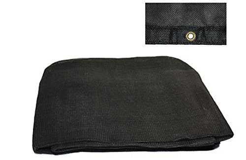 20' x 30' Black 70% Shade Mesh Tarps with Grommets ROLL-OFF 30' Black Mesh