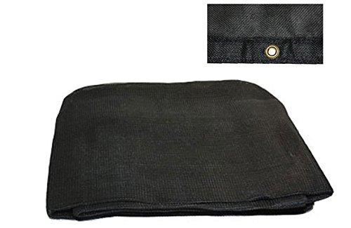 Black 70% Shade Mesh Tarps with Grommets (20' x 30', Black) 20' Black Mesh Tarp