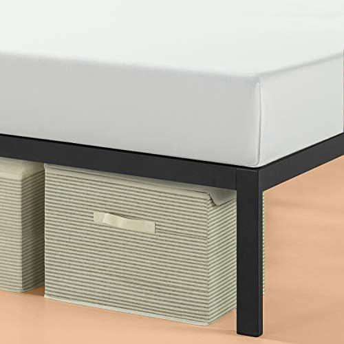 Zinus Mia Modern Studio 14 Inch Platform 1500H Metal Bed Frame With Headboard, Queen 41s10F7YlZL