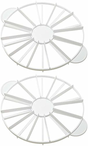 Ateco 1327 Cake Portion Marker, 10 or 12 Slices, Works for Cakes Up To 16-Inches Diameter - Set of 2