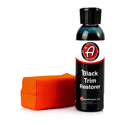 Adams New Black Trim Restorer - Restores Plastic Trim to a Rich, Black Color with a Factory-New Appearance - Lasts Several Months per Treatment (4 oz with Applicator)