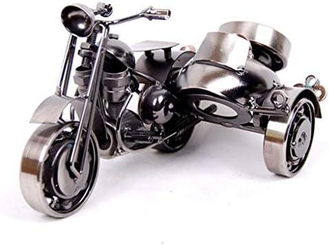 錬鉄製の三輪バイクオフィス創造的な装飾家の家具中国風の装飾 (Color : Bronze, Size : 20*12*10cm)
