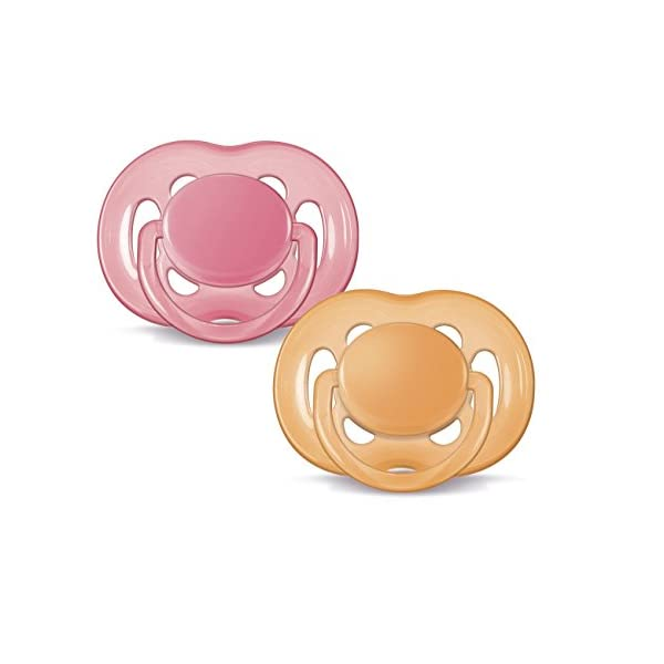 Philips AVENT Freeflow Pacifier BPA, Free Pink/Orange, 6-18 Months (Pack of 2)