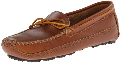 Minnetonka Men's Double Bottom Cowhide Moc, Chestnut Lariat, 12 M US