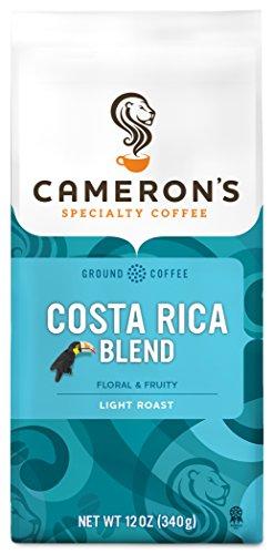 Costa Coffee Rican Ground (Cameron's Coffee Roasted Ground Coffee Bag, Costa Rican Blend, 12 Ounce)