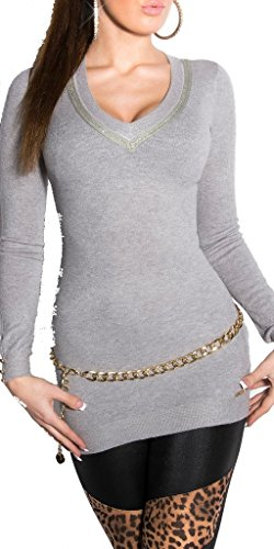 KouCla - Jerséi - para mujer gris