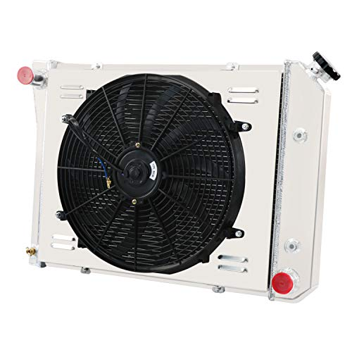 CoolingCare 3 Row Radiator+ Shroud+ 16'' 160W Fan for 1969-1974 Chevy Nova, El Camino Multiple GM Models