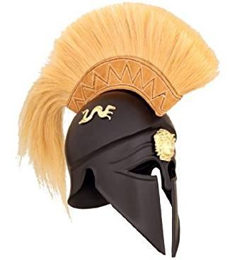 Royal Corinthian Greek Helmet - Deepeeka - One Size - Black Armour by THORINSTRUMENTS