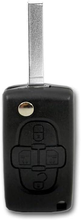 Clé 4 touches de Remplacement Boîtier Batterie Pour Citroen Peugeot 807 c8 1007 PHEDRA