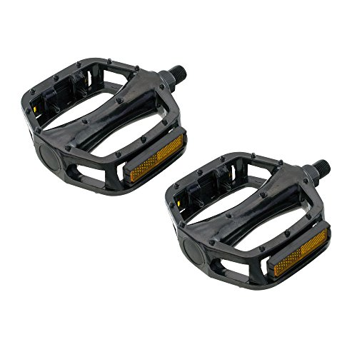 - 565 Alloy Pedals . Bike pedals, bicycle pedal, for lowrider , beach cruiser, chopper, limo, stretch bike. Various Colors & Sizes (Black, 1/2