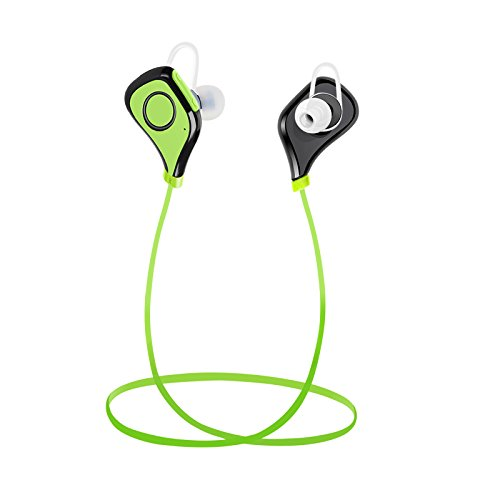 Bluetooth Headphones, Vacio Wireless Headphones Sport Bluetooth Earphones with Mic Noise Cancelling Headset Earbuds for iPhone iPad Samsung Galaxy LG and Smartphones/Green by Vacio
