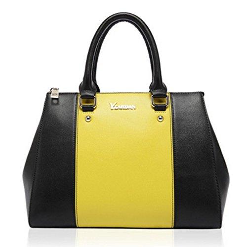 Blue Sunshine Lady Dermis Fashion One Shoulder Matching Color Handbag(yellow)