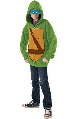 Teenage Mutant Ninja Turtles Leonardo Hoodie Costume, - Ideas Turtle Halloween Ninja Costume