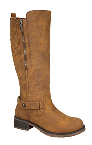 Todd-1 Women's Low Heel Knee High Causal Riding Boots with Buckle Design Chami 8