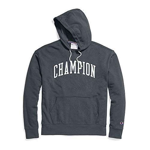 Champion Men's Heritage French Terry Pullover Hoodie, Arch Logo, Grey Scarf - Size XL