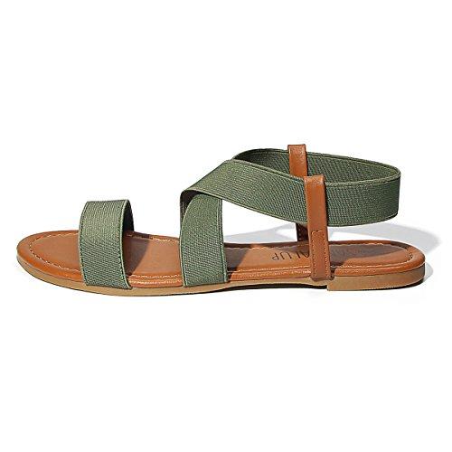 SANDALUP - Sandalia Con Cordón Elástico Verde