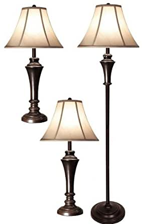 Style craft pg8018 ds set of two table lamps44 club floor for Style craft floor lamp