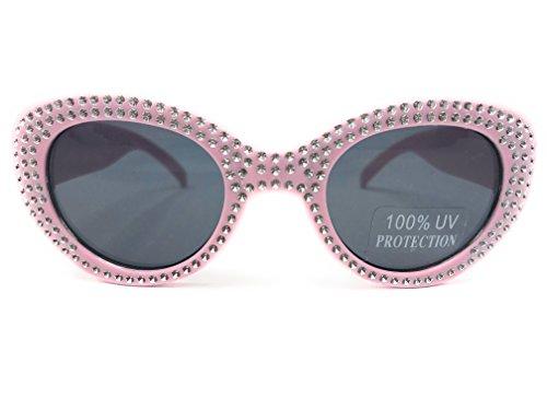 Rhinestone Kids Sunglasses - Koala Kids Children's 100% UV sunglasses-pink rhinestone