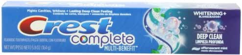 Crest Complete Multi-Benefit Whitening + Scope Outlast, Mint Toothpaste - 7.6 Oz, Pack of 4