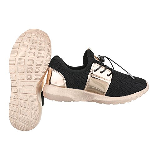 oro Donna Low top Ital nero Design xqSO4PI8