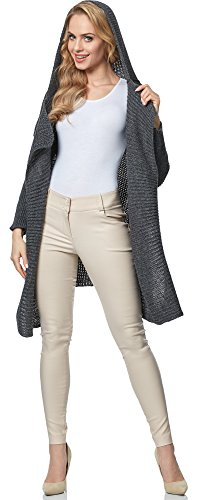 Femme Style MSSE0026 Merry Graphite pour Cardigan AROYxwqWS