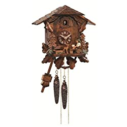Cuckoo Clock Black Forest house with moving beer drinker