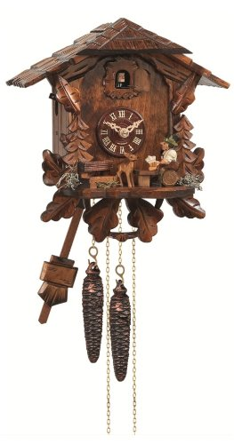 Beer Drinker Cuckoo Clock - Cuckoo Clock Black Forest house with moving beer drinker